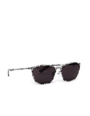 Balenciaga White Logo Printed D-Frame Sunglasses
