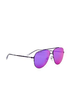 Balenciaga Purple Invisible Aviator Sunglasses