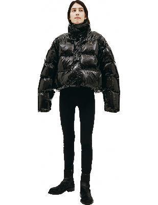 Balenciaga Black Cropped Puffer