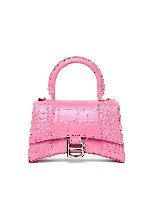 Balenciaga Pink XS Hourglass Top Handle Leather Bag