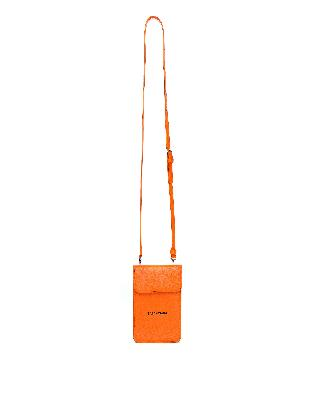 Balenciaga Orange Phone Holder With Shoulder Strap