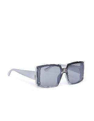 Balenciaga Grey Square BB Sunglasses