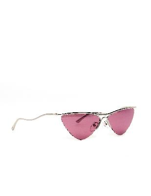 Balenciaga Mirrored Lenses Cat-Eye Sunglasses