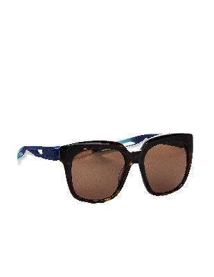 Balenciaga Black Hybrid Sunglasses