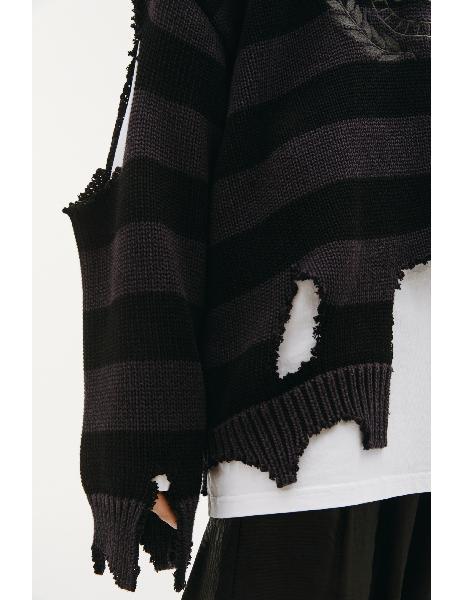 Balenciaga Ripped Logo Sweater