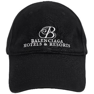 Balenciaga BLACK EMBROIDERED Hotels and Resorts CAP