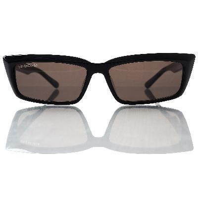 Balenciaga Black Rectangle Sunglasses