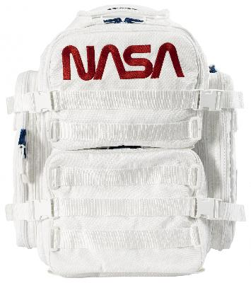 Balenciaga White Space Backpack in embroidered NASA