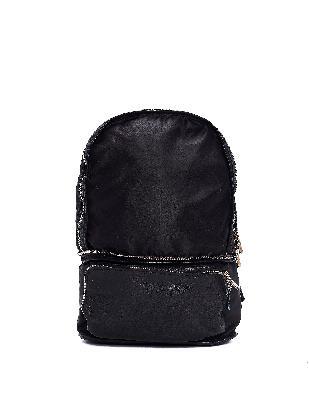 Guidi Black Nylon & Leather Transformer Backpack