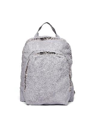 Guidi Grey Leather Backpack