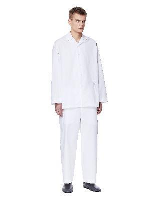 Jil Sander White Cotton Pajamas