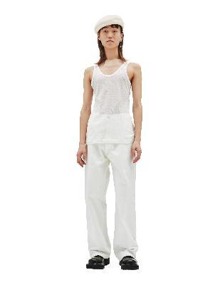 Maison Margiela White Cotton & Silk Tank Top