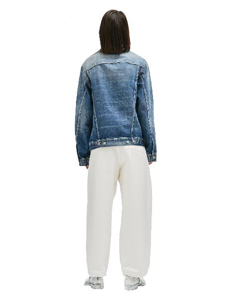 Maison Margiela Collarless Blue Denim Jacket