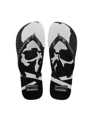 Mastermind WORLD Black Tradi Zori Scull Printed Sandal