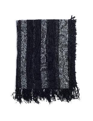 The Viridi-Anne Black Wool & Cashmere Scarf