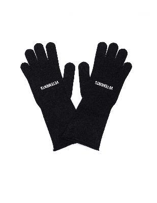 Vetements Black Logo Gloves