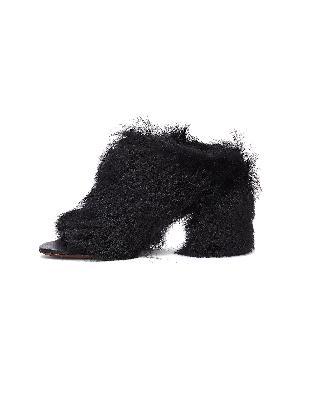 Vetements Fur Leather Shoes