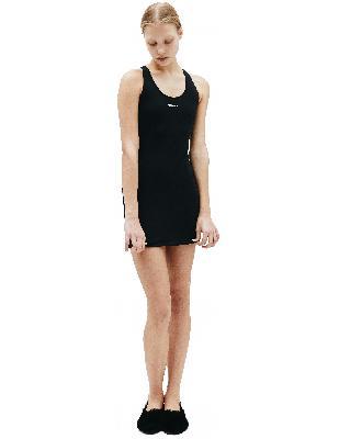 Vetements Black Dress With Logo