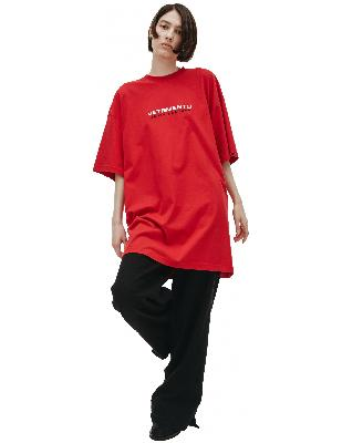 Vetements Red Haute Couture Embroidered T-Shirt