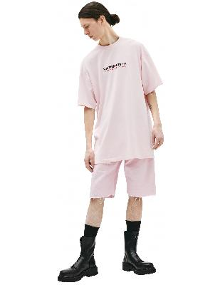 Vetements Pink Haute Couture Embroidered T-Shirt