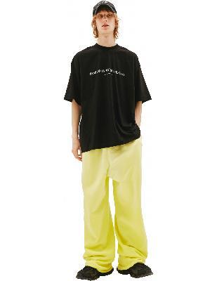 Vetements Black T-shirt Printed Fashion is my profession