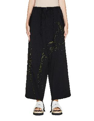 Y's Wool Trousers With Embroidery